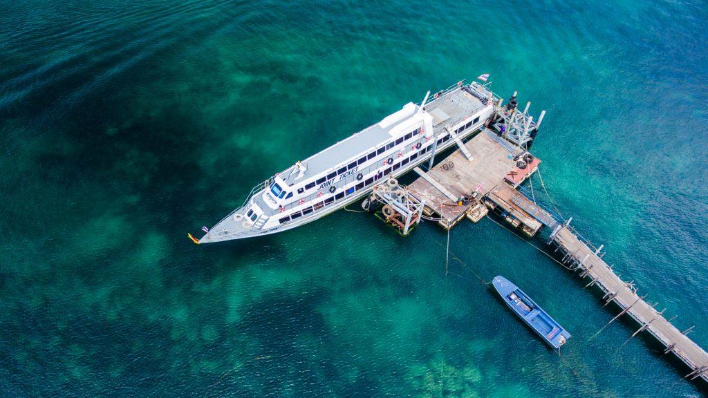 เดินทางไปเกาะเต่าด้วยเรือส่งเสริมเอ็กเพรส