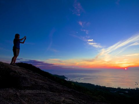 Koh tao hiking to West Coast viewpoint