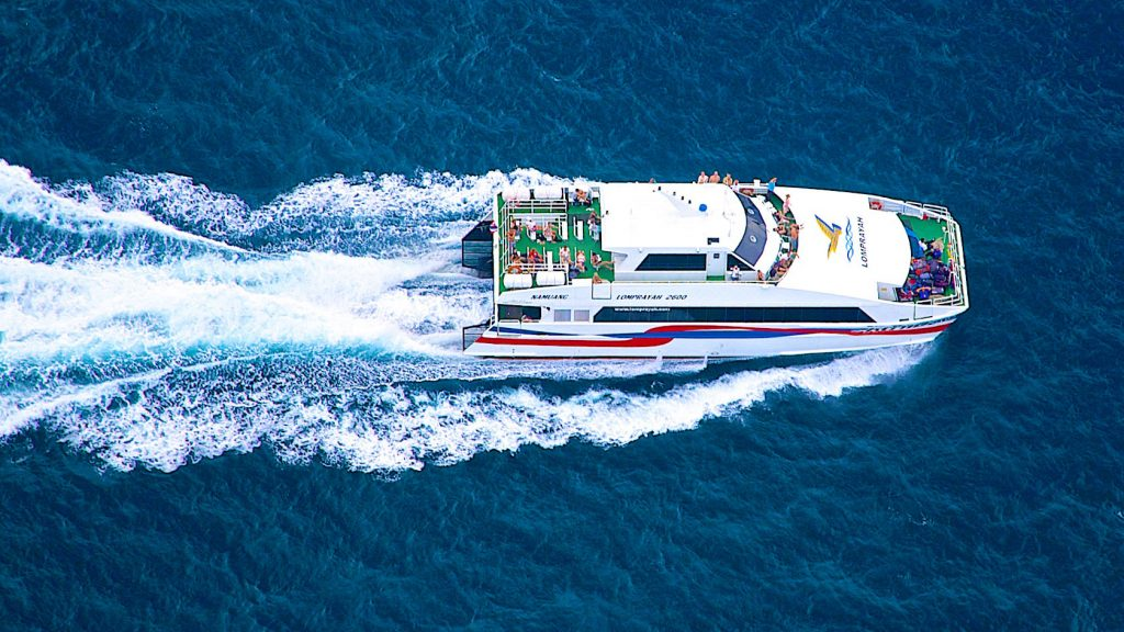 เดินทางไปเกาะเต่าด้วยเรือเร็วลมพระยา