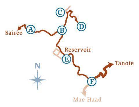 แผนที่เส้นทางเดินป่าหาดทรายรี-อ่าวโตนด เกาะเต่า