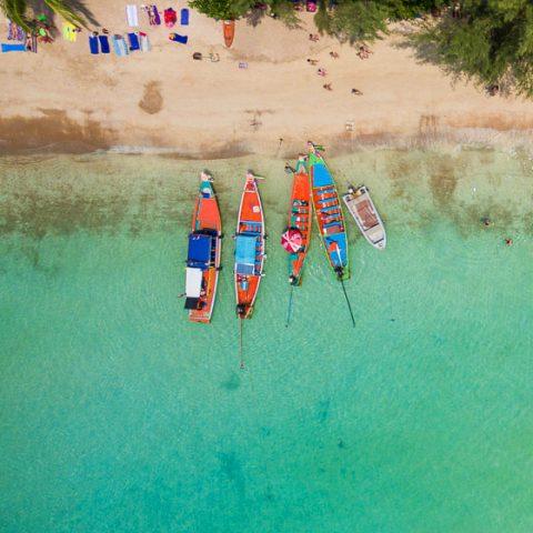 Sairee Beach, Koh Tao from Above