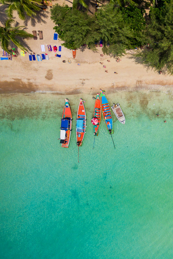 Sairee Beach, Koh Tao from Above