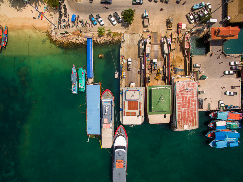Pier at Mae Haad Bay, Koh Tao