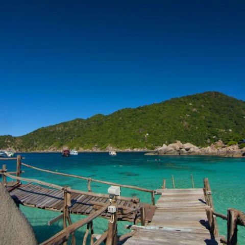 Clear water of Koh Nang Yuan