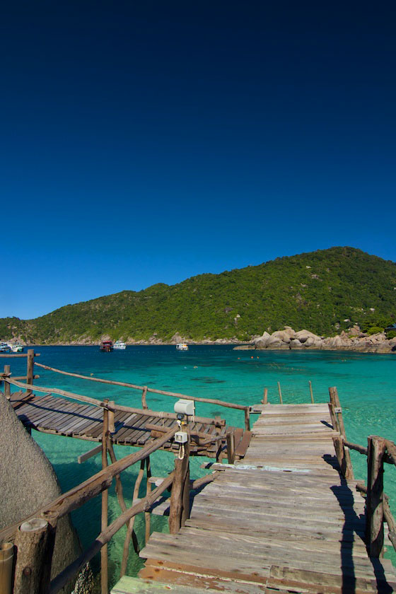 Clear water of Koh Nang Yuan