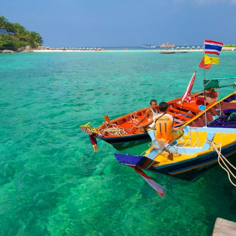 Taxi boats at Koh Nang Yuan