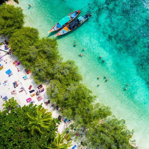 Aerial photo of Freedom Beach, Koh Tao