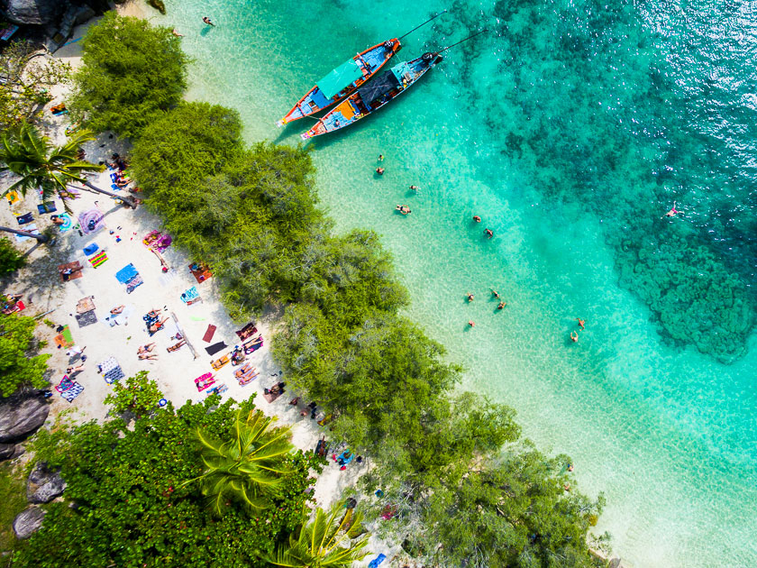 Aerial photo of Freedom Beach, Koh Tao