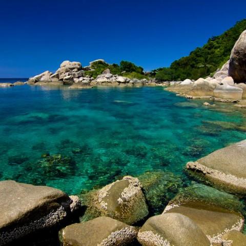 Snorkelling spot south of Hin Wong Bay