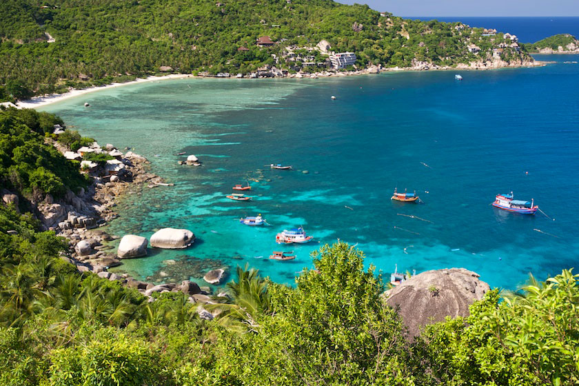 Shark Bay and Taa Chaa Bay, Koh Tao
