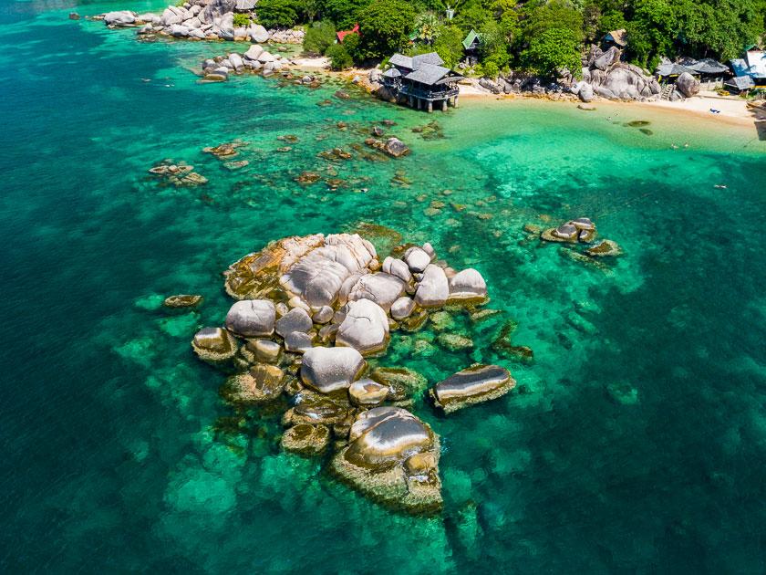 Sai Nuan 2 Rock - snorkelling spot, Koh Tao