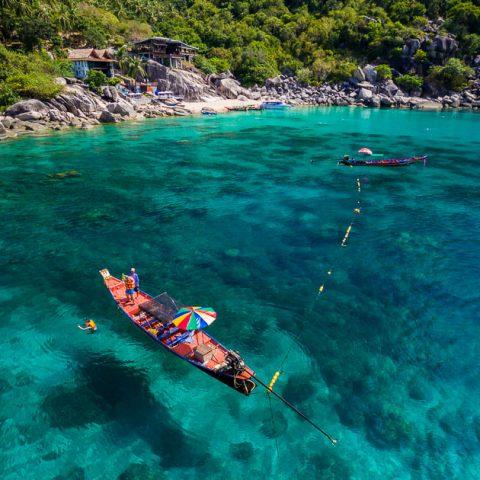 Visit Mango Bay by long-tail boat