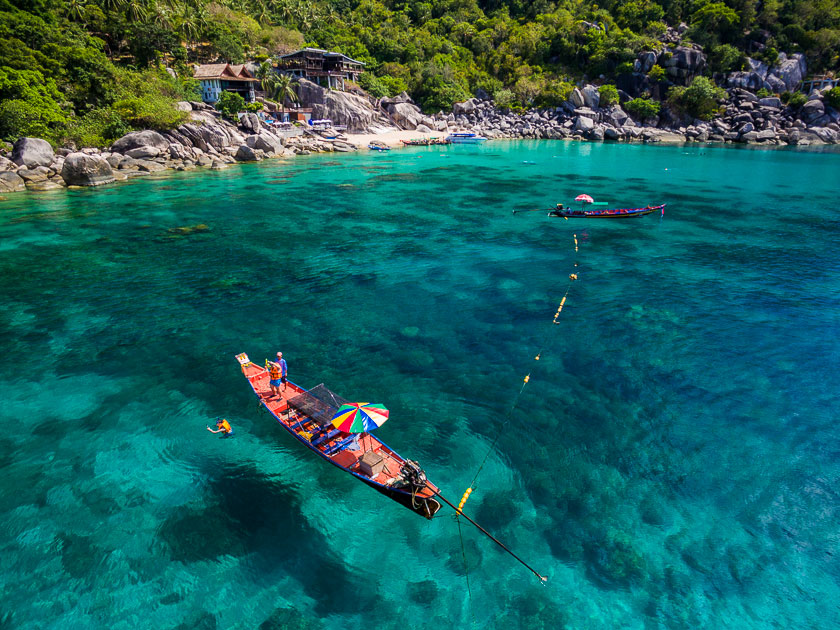 Visit Mango Bay by long-tail boat