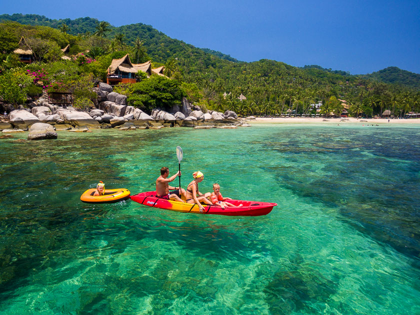 Kayaking Sairee Beach, Koh Tao