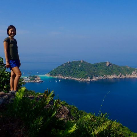 Hiking Grape viewpoint above Mango Bay, Koh Tao