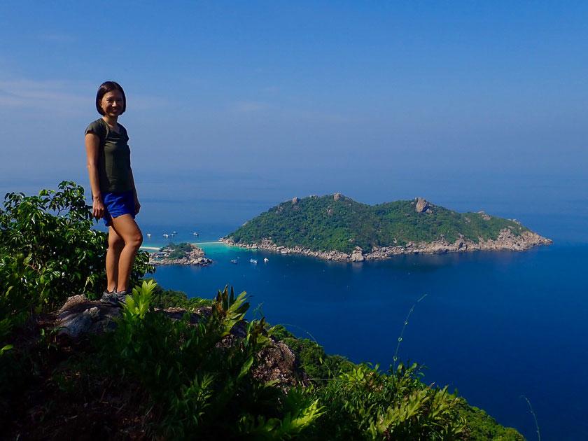 Hiking Grape viewpoint above Mango Bay, Koh Tao