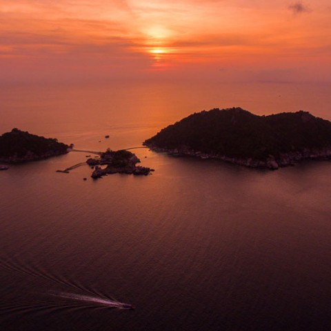 Koh Nang Yuan at Dusk