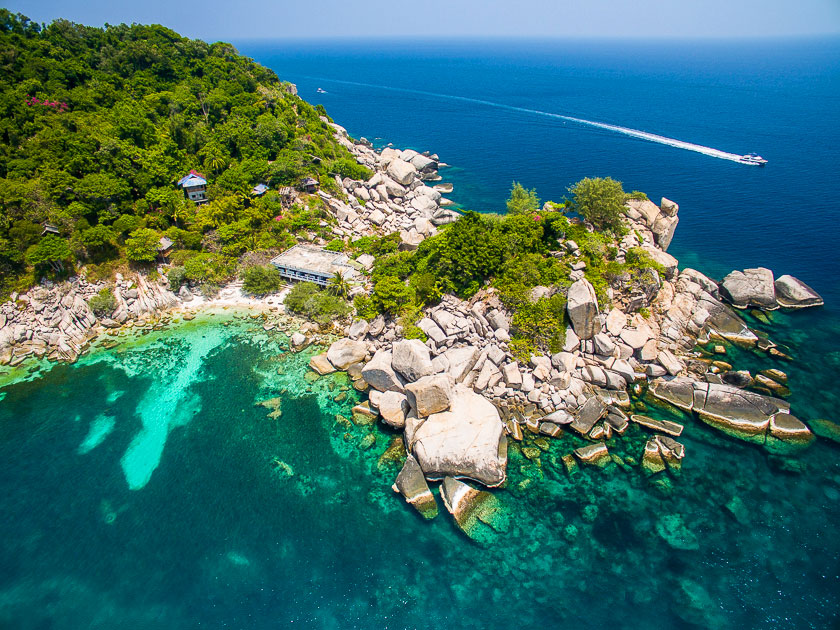 Laem Thian, Koh Tao aerial photo