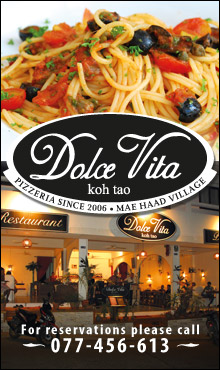 Dolce Vita Restaurant Koh Tao