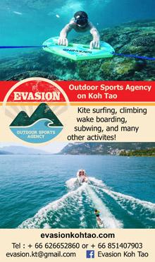 Evasion Outdoor Sports, Koh Tao