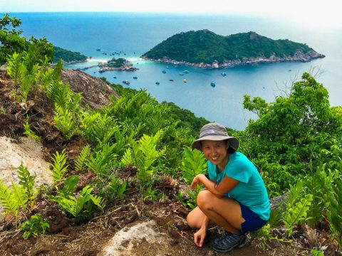 Getting around Koh Tao by foot