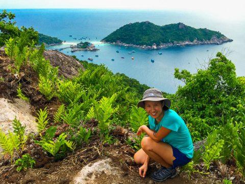 การเดินทางบนเกาะเต่าโดยการเดิน