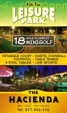 Koh Tao Leisure Park and Hacienda Bar & Grill