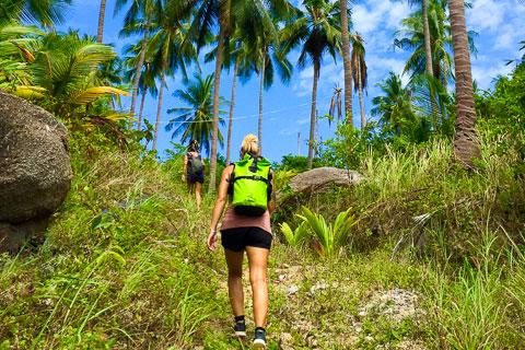 เส้นทางเดินป่าหาดทรายนวล-อ่าวโฉลกบ้านเก่า เกาะเต่า