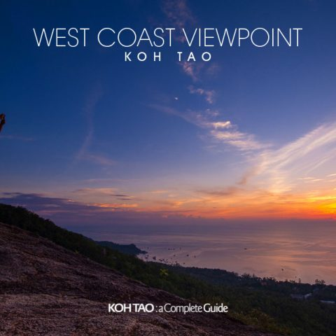 West Coast Viewpoint. Koh Tao