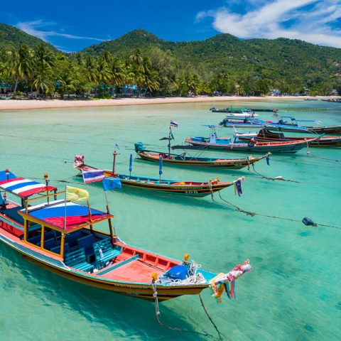 Taxi Boats at Sairee Beach, Koh Tao