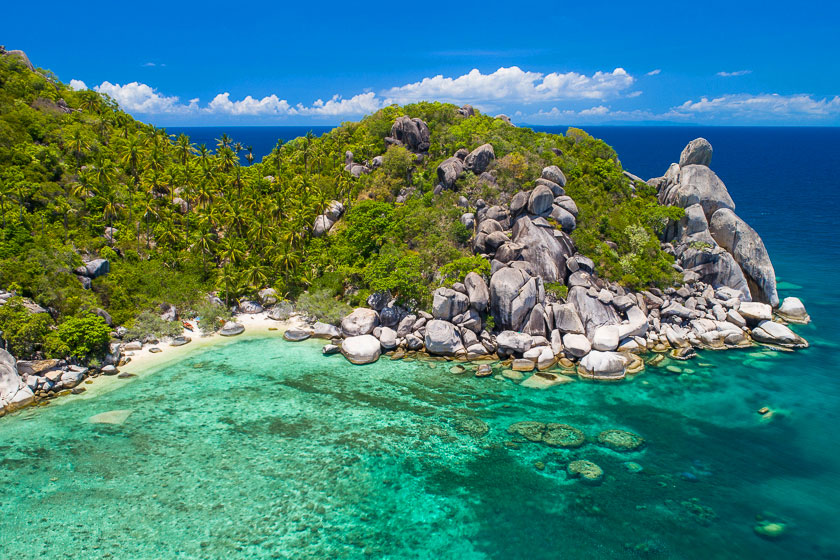 Aerial photo of Freedom Beach II, Koh Tao