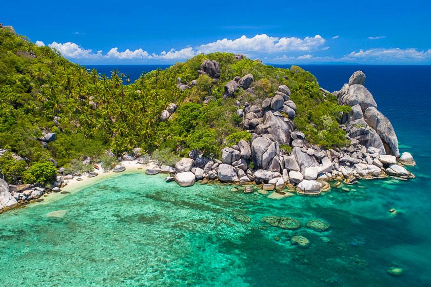 Aerial photo of Freedom Beach II, Koh Tao