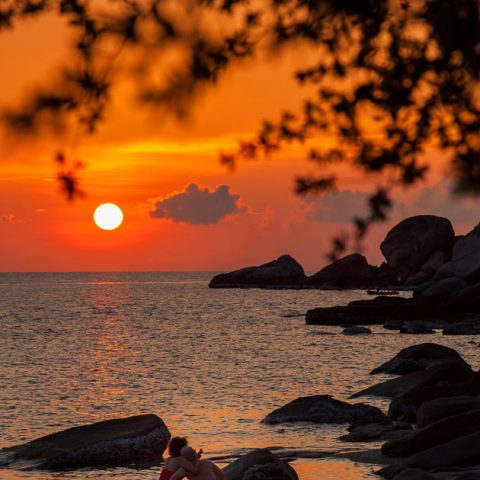 Sunset at June Juea Bay, Koh Tao
