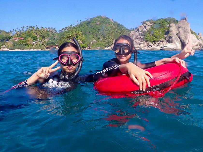 การฝึกทักษะฟรีไดฟ์ในทะเลเกาะเต่า