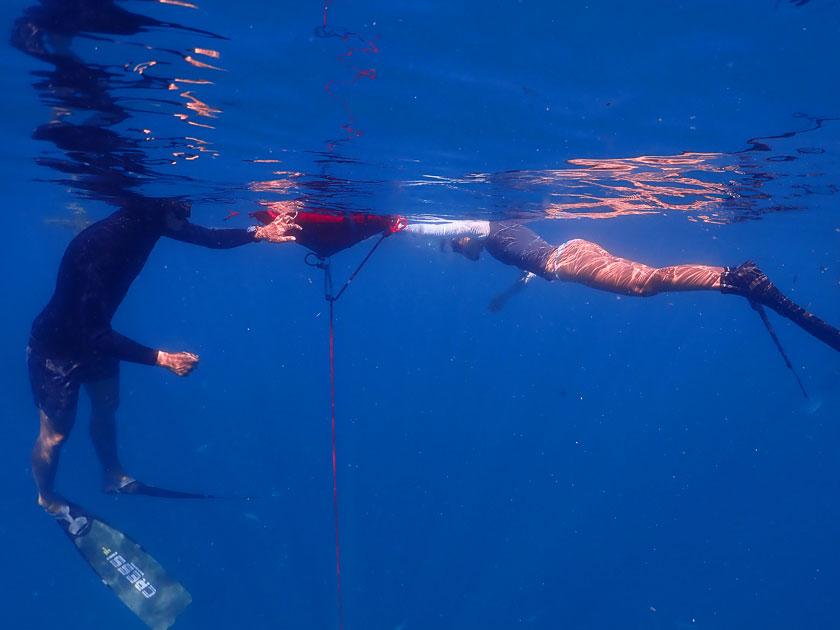 เรียนฟรีไดฟ์ที่เกาะเต่า ฝึกในทะเล (Open Water)