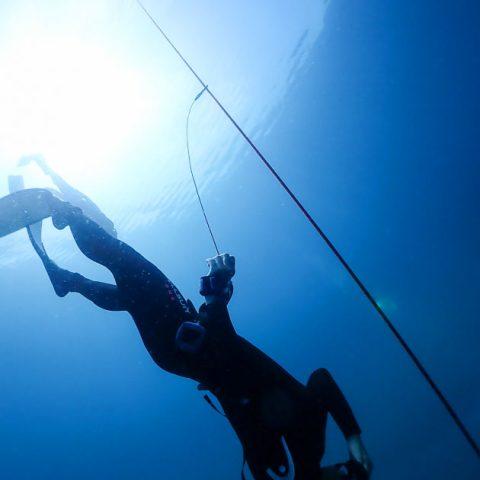เรียนฟรีไดฟ์ที่เกาะเต่า ฝึกในทะเล Constant Weight Freedive