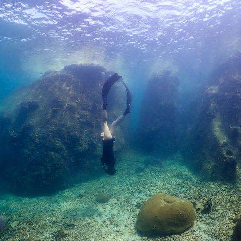 Freediving Jansom Bay, Koh Tao