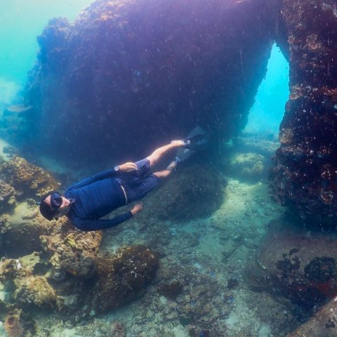 Freediving Three Rocks, Jansom Bay, Koh Tao