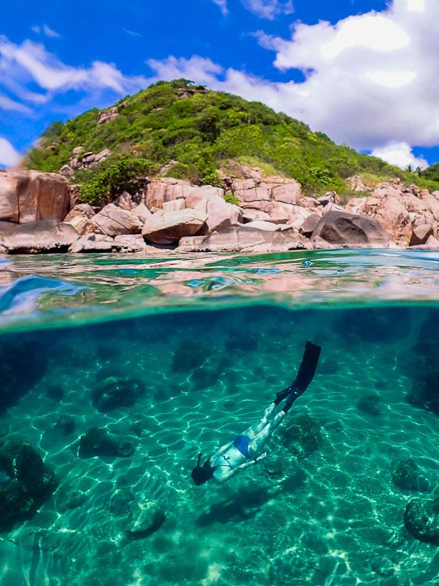 ฟรีไดฟ์อ่าวลังค่าย เกาะเต่า
